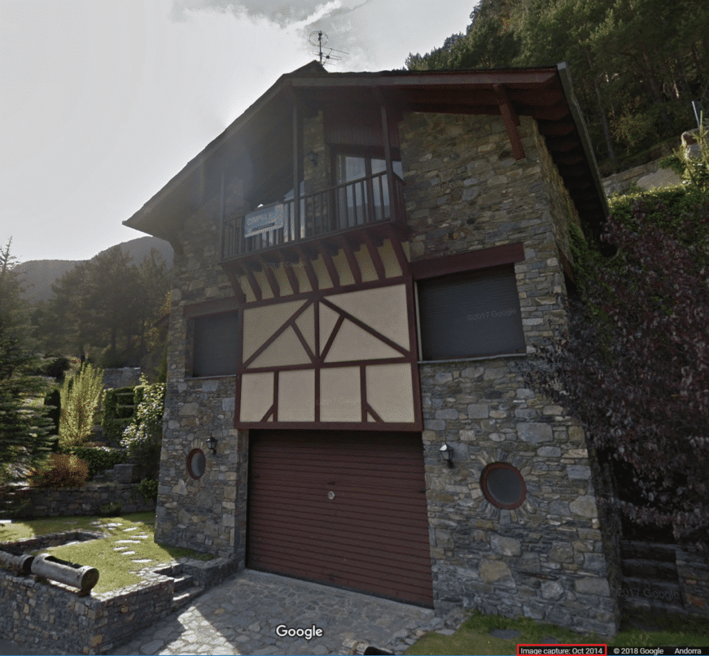 Using Google Street View to research Andorran properties