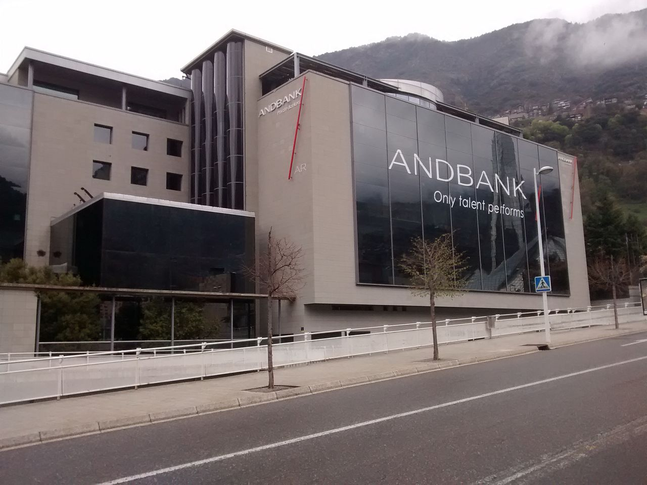 Branches for the major Andorra banks are modern and easy to find.
