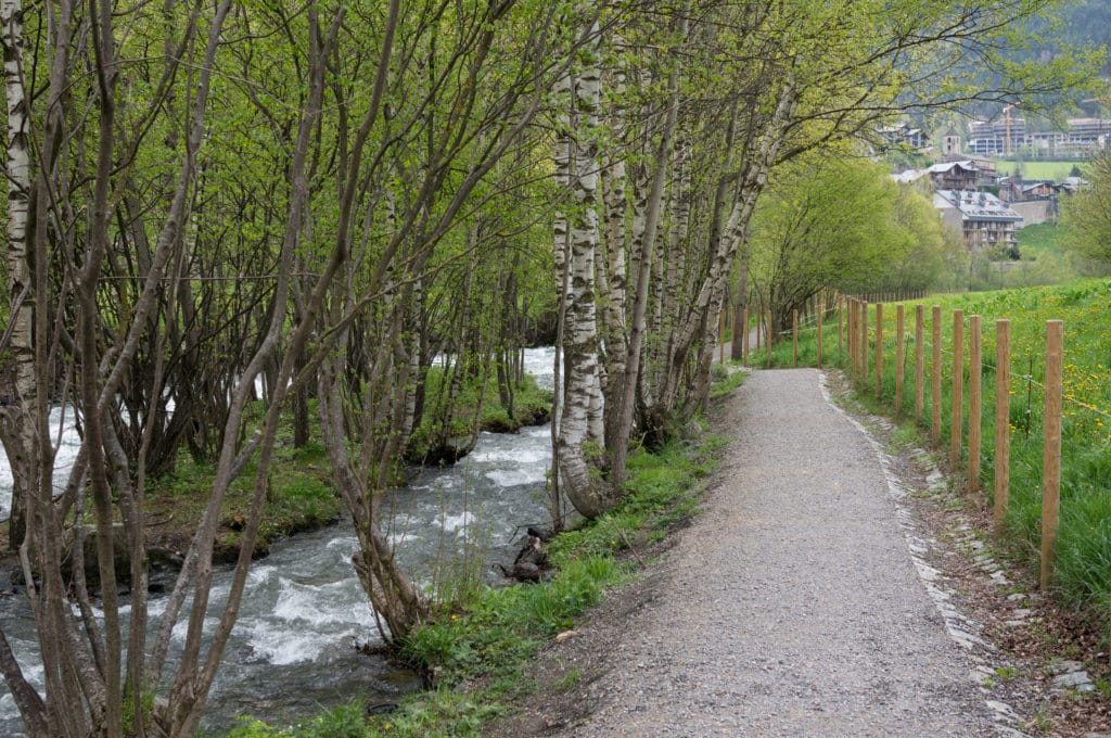 One of the many walking trails in Andorra, which makes life here very enjoyable.