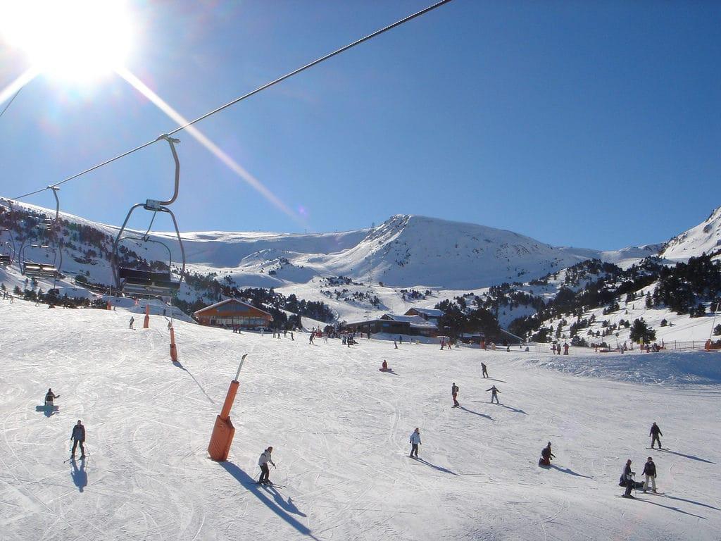 Workers at an Andorran ski resort