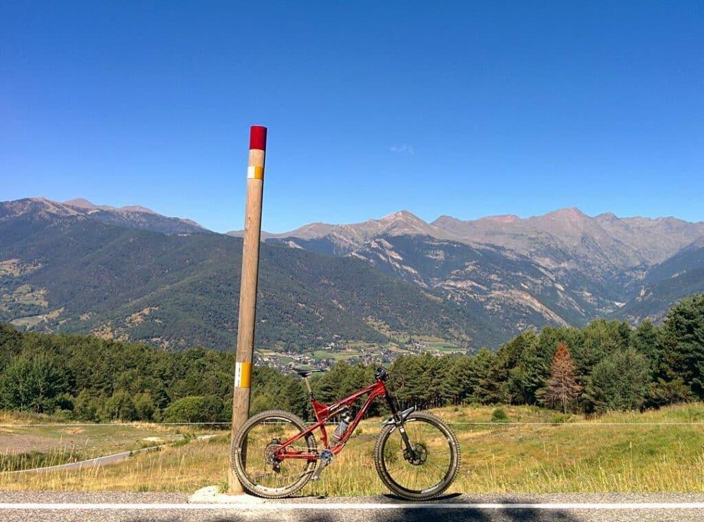 Cycling at Beixalis in La Massana