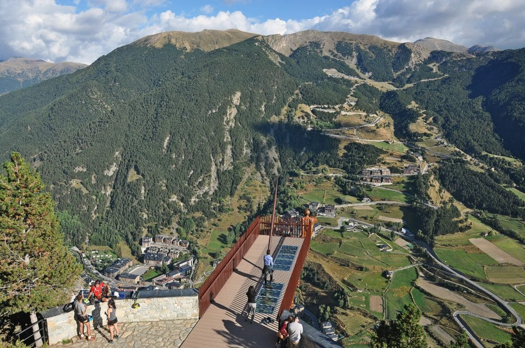 Looking down on Canillo from Mirador Roc del Quer